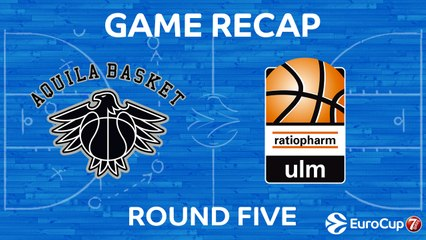 7Days EuroCup Highlights Regular Season, Round 5: Trento 77-66 Ulm