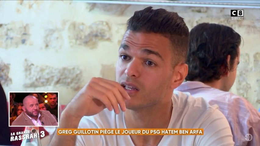 Greg Guillotin piège le joueur du PSG Hatem Ben Arfa (Partie 2)