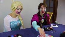 Frozen Elsa & Anna TWISTER MAKEUP CHALLENGE w_ Belle Spiderman Learn Colors Educational Video IRL | Superheroes | Spiderman | Superman | Frozen Elsa | Joker