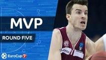 7DAYS EuroCup Regular Season, Round 5 MVP: Adas Juskevicius, Lietkabelis Panevezys