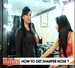 How to make nose look sharp by makeup