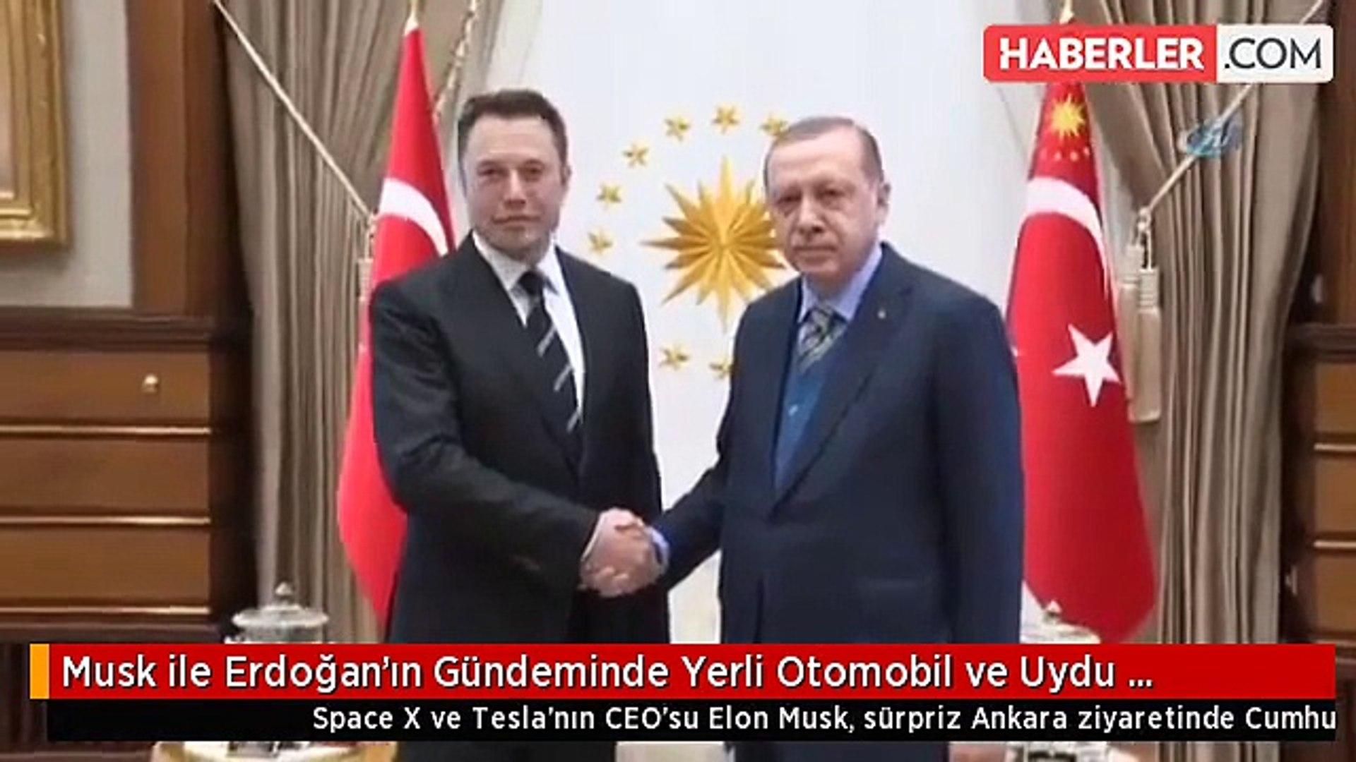 Musk ile Erdoğan'ın Gündeminde Yerli Otomobil ve Uydu Teknolojileri Vardı