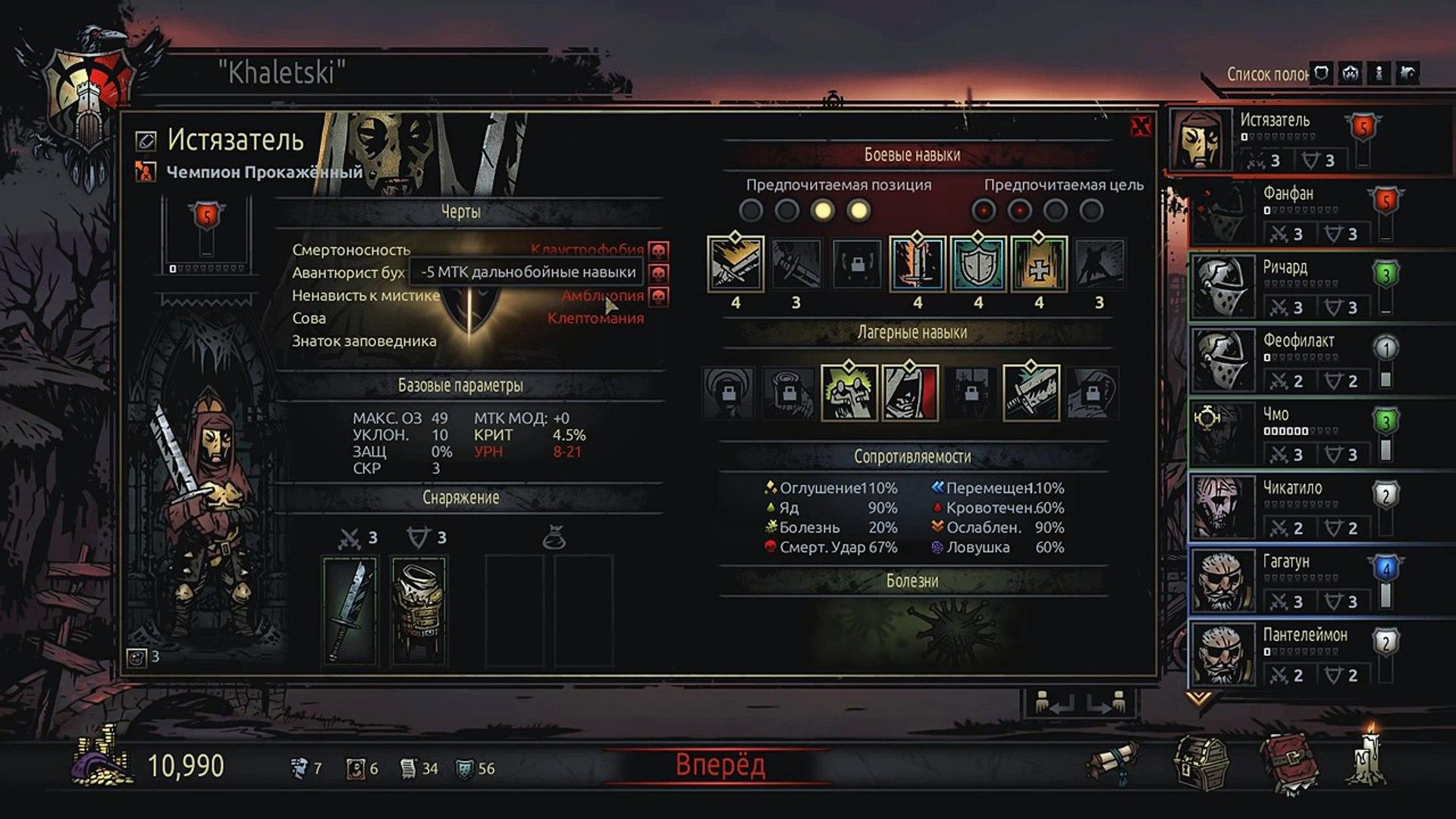 Руководство в Darkest Dungeon: город и подготовка