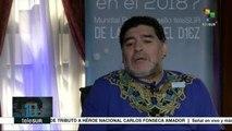 Maradona insta a defender la Revolución Bolivariana de Venezuela