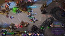 Heroes of the Storm Ranked Gameplay - Sgt Hammer Heavy Damage Build - Battlefield of Eternity