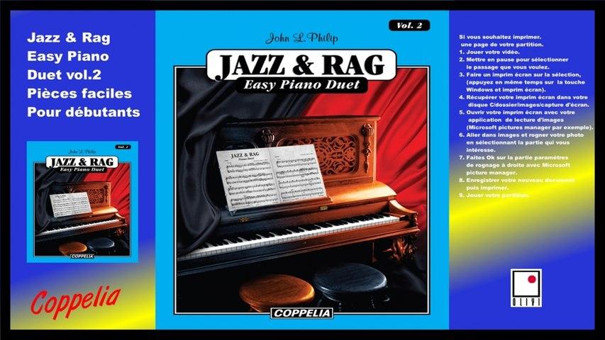 Partitions - Jazz and Rag easy piano duet vol.2 - pour débutants