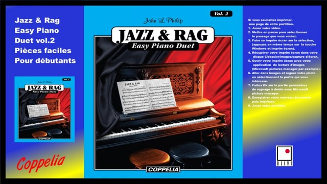 Partitions - Jazz and Rag easy piano duet vol.2 - pour débutants