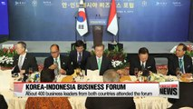 Pres. Moon attends 'S. Korea-Indonesia business forum,' stresses need for econmic and diplomatic cooperation with ASEAN