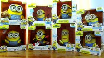 Massive Set Minions new Exclusive Electronic Toys - Singing & Dancing Bob, Stuart and Kevin