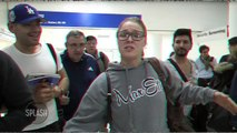 Ronda Rousey Refuses to Sign Autographs at LAX