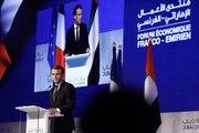 Discours du Président de la République, Emmanuel Macron, lors du forum économique franco-émirien à l'université Zayed, Dubaï