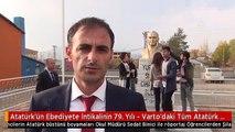 Atatürk'ün Ebediyete İntikalinin 79. Yılı - Varto'daki Tüm Atatürk Büstlerini Boyadılar