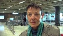 Usagers Air France à l'arrivée de l'aéroport Marseille Provence