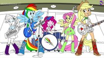 My Little Pony Coloring Book Equestria Girls Rainbow Rocks Mlp Coloring Pages For Kids 影片 Dailymotion