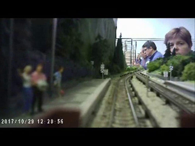 La ligne les Houches a Montroc en cabine du train H0