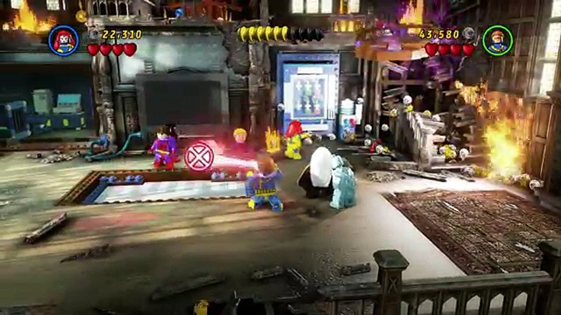 LEGO Marvel Super Heroes (PS4) - Co-op Walkthrough Part 8 - Juggernauts and  Crosses