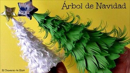 Árbol de Navidad con hojas de Papel, Cómo hacer un Abeto de Papel, Decoración para Navidad