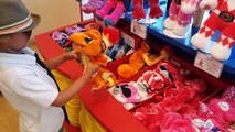 CARL Makes A PIKACHU And CHARMANDER Build A Bear!! Exclusive Pokemon Cards, Fashion Show at Disney!!