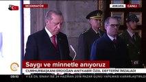 Cumhurbaşkanı Erdoğan: Gazi Mustafa Kemal Atatürk'ü bir kez daha rahmetle anıyoruz
