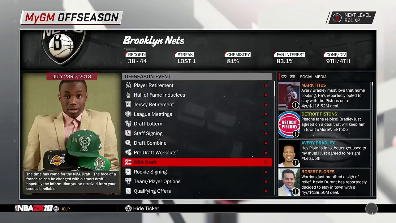 NBA 2K18 MyGM EP 8 | Brooklyn Nets | OFF-SEASON MOVES!!