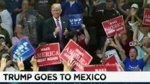 KANDIDATI REPUBLIKAN DONALD TRUMP I SURPRIZON TE GJITHE ME VIZITEN NE MEKSIKE TE CILEN E KA SULMUAR
