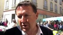 La réaction d'Éric Diard (UMP) sur le marché de Marignane ce matin.