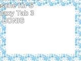 JAMMYLIZARD  Smart Case Ledertasche für Samsung Galaxy Tab 3 70 LILA  HONIG