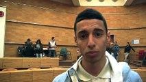 Maxyme, Mounir et Margaux trois lycéens impliqués pour ce bal des jeunes citoyens