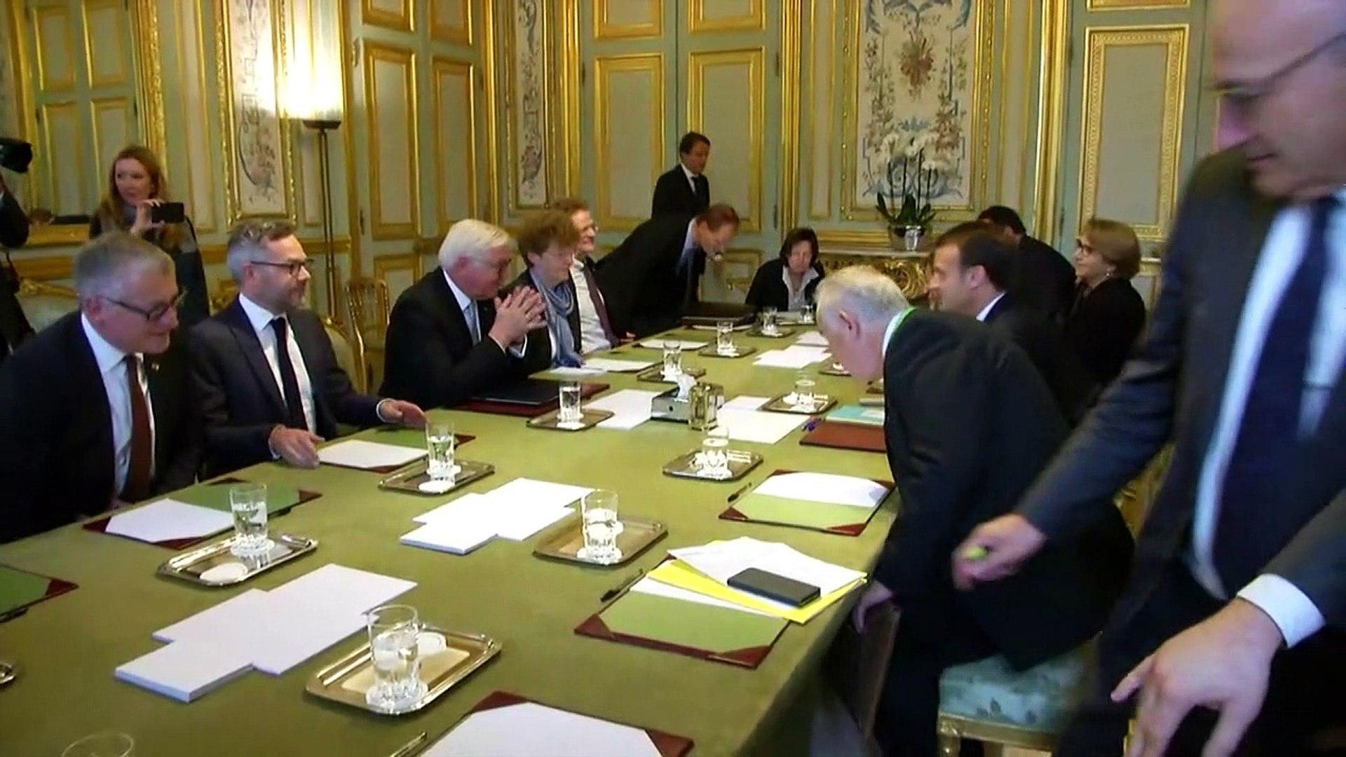 Rencontre des présidents allemand et français