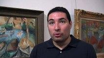 Les explications d'Aurélien Gonzalez, médiateur culturel au musée Ziem.