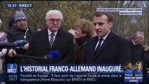"""Depuis l'historial franco-allemand, Emmanuel Macron prône une """"Europe souveraine, unie et démocratique"""""""
