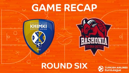 EuroLeague 2017-18 Highlights Regular Season Round 6 video: Khimki 91-90 Baskonia