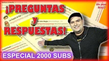 ESPECIAL 2000 SUBS | PREGUNTAS & RESPUESTAS | APRENDE MAGIA | Is Family Friendly