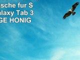 JAMMYLIZARD  Smart Case Ledertasche für Samsung Galaxy Tab 3 70 ORANGE  HONIG