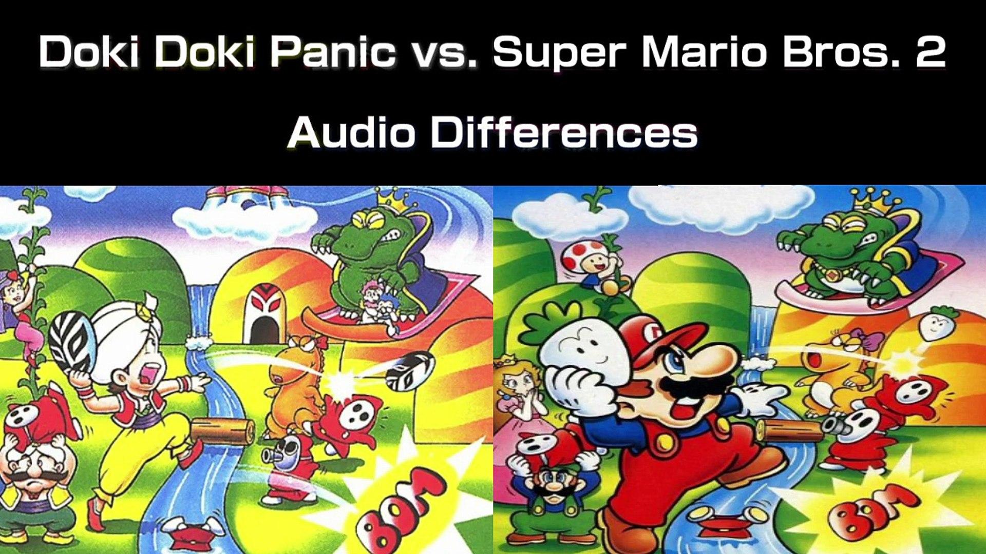 Audio Differences- Doki Doki Panic vs  Super Mario Bros  2