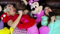 Frozen Elsa & Belle SLEEPOVER Slumber Party w_ Joker Spiderman Makeup Challenge Fun in real life IRL | Superheroes | Spiderman | Superman | Frozen Elsa | Joker