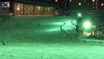 祝スノボ#100 平和な雪上に魔王降臨!!闇の世界から沈黙を破ったカービング男爵只今見参!【親父インストラクター✖️カービング男爵】