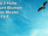 URFEDA Schutzhülle für iPad Air 2 Hülle Leder PU Bunt Blumen Bär Cartoon Muster Slim Fit