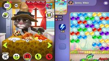 My Talking Tom VS Talking Tom Bubble Shooter: Angela iPad Gameplay for Children HD
