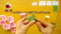 Abc Tv How To Make Yellow Lily Paper Flower From Crepe Paper Craft