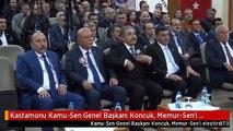 Kastamonu Kamu-Sen Genel Başkanı Koncuk, Memur-Sen'i Eleştirdi