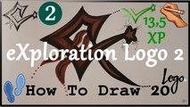 ✍ How To Draw 20 | eXploration (Logo 2) | Easy | eXploration