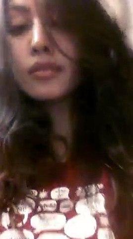 Selfie girl Woman Takes