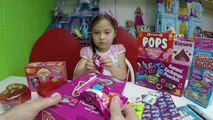 Giant Gummy Worms WarHeads Extreme Sour Candy Haul Goody Bags, Ring Pops & Disney Frozen Cards