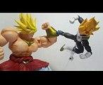DBZ Stop Motion Fight - SSGSS Vegeta vs Broly
