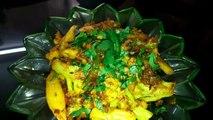 Fried and spicy aloo gobi, restaurant style aloo gobi