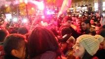 Les Champs Elysées aux couleurs du Maroc suite à la qualification pour la coupe du monde de football 2018