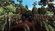 Gorilla vs superheros spiderman hulk finger family nursery rhymes for kids   3D finger family song