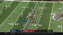 Dallas Cowboys wide receiver Dez Bryant's stiff arm sends Atlanta Falcons cornerback Desmond Trufant way back