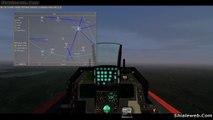 Gameplay Flightgear Jet f-16 Un Buen Viaje A Otro Aeropuerto Sin Plan De Vuelo